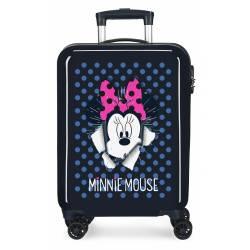 Maleta de cabina Minnie rígida 55x38x20cm Sunny Day Azul Marino