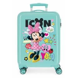 Maleta de cabina Enjoy Minnie icon rígida 55x38x20cm Enjoy Minnie icon turquesa