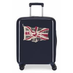 Maleta de cabina rígida 55x40x20cm Pepe Jeans FLAG Azul Marino