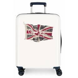 Maleta de cabina rígida 55x40x20cm Pepe Jeans FLAG Blanco