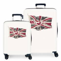 Juego de maletas Pepe Jeans FLAG rígidas 55-70 cm Blanco