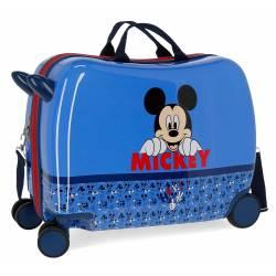 Maleta correpasillos Mickey Moods con ruedas multidireccionales