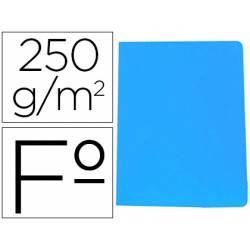 Subcarpeta Gio Folio 250 gr Cartulina color azul