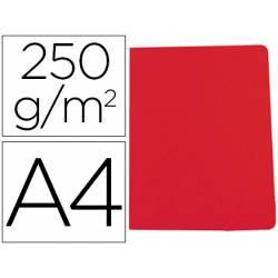 Subcarpeta Gio DIN A4 250 gr Cartulina color rojo