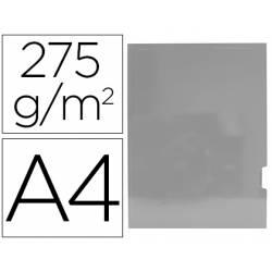 Subcarpeta Gio DIN A4 275 gr Plastificada 2 solapas color Gris