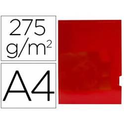 Subcarpeta Gio DIN A4 275 gr Plastificada 2 solapas color Rojo