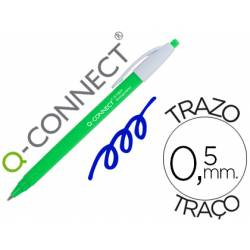 Boligrafo retractil Q-Connect Color Azul 0,5 mm Biodegradable