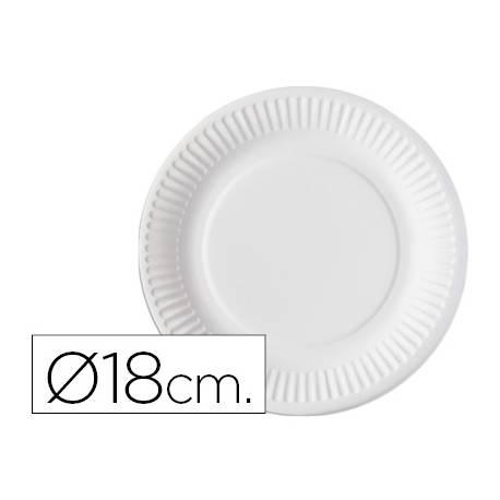 Plato de carton Nupik 18cm color blanco