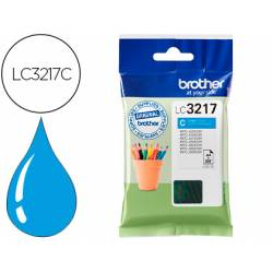 Cartucho Brother LC3217 color cian LC3217C