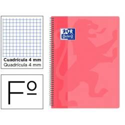 Bloc Oxford Folio School Classic Cuadricula 4 mm color Rosa