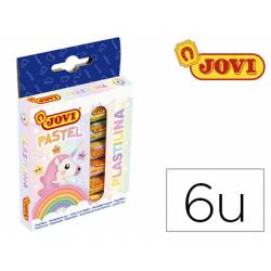 Plastilina Jovi colores pastel estuche 6 colores