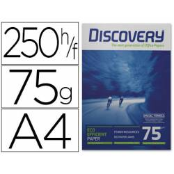 Papel multifuncion A4 Discovery Fast Pack 75 g/m2 Caja de 2500 hojas