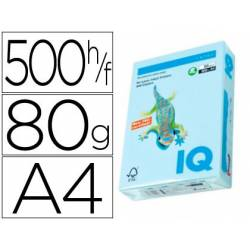 Papel color multifunción IQ Azul A4 80 g/m2 500 hojas