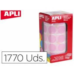 Gomets Apli circulares color rosa 20mm