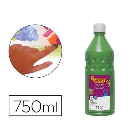 Pintura de dedos Jovi Botella 750 ml Color Verde