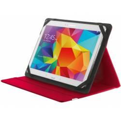 "Funda Trust Primo Tamaño folio Universal para tablets 7-8"" Rojo"