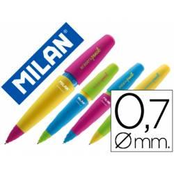 Portaminas Milán Capsule con goma trazado 0,7mm (NO SE PUEDE ELEGIR COLOR)