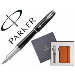 Pluma Parker urban premium ebony con block de notas de regalo.