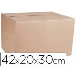 Caja para embalar Q-Connect de doble canal de 42x30x20cm