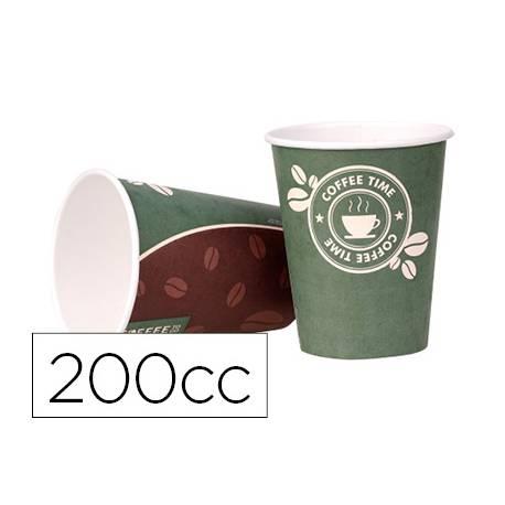 Vaso termico carton 200 cc Paquete de 50 unidades