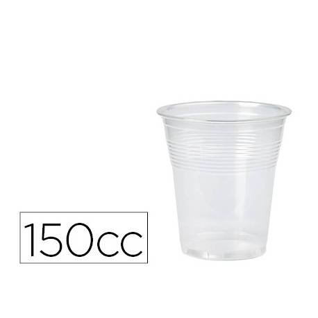 Vaso de plastico transparente 150cc