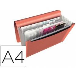 Carpeta plastico clasificadora Esselte A4 color albaricoque Colour Ice