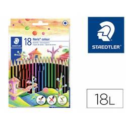 Lapices de colores Staedtler Wopex ecológicos caja de 18 colores largos