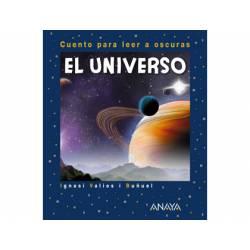 Libro El universo cuento para leer a oscuras Editorial ANAYA