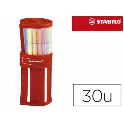 Rotulador Stabilo Pen 68 Rollerset Estuche de 30 colores
