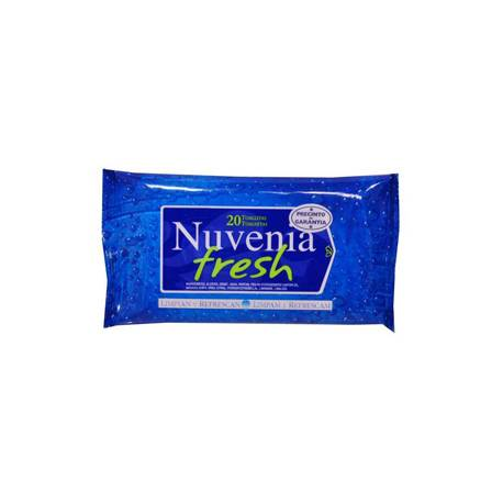 Toallita para cara y mano húmeda Nuvenia Fresh paquete 20 unidades