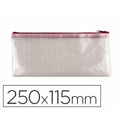 Bolsa multiusos 250x115 mm Q-Connect plastico impermeable y ultrarresistente color Roja