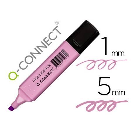 Rotulador Q-Connect Fluorescente Pastel Color Violeta
