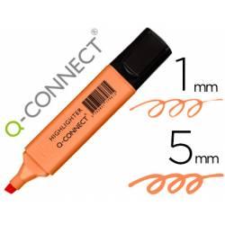 Rotulador Q-Connect Fluorescente Pastel Color Naranja