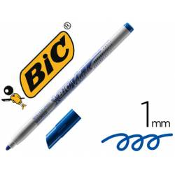 Rotulador Bic Velleda fino 1 mm color azul