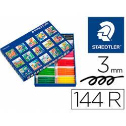 Rotuladores Staedtler Jumbo Punta Gruesa 3 mm de Colores Surtidos Caja de 144 unidades