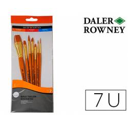 Pinceles acrílico Daler Rowney 7 unidades surtidas