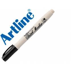 Rotulador Artline Supreme Brush Acuarelable Punta Pincel Color Negro
