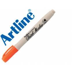 Rotulador Artline Supreme Brush Acuarelable Punta Pincel Color Naranja