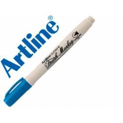 Rotulador Artline Supreme Brush Acuarelable Punta Pincel Color Azul