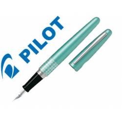 Pluma Pilot Urban MR Retro Pop Plumín Metálico con Estuche Color Azul Turquesa