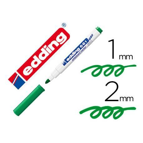 Rotulador para Pizarra Blanca Edding 661 Recargable Color Verde