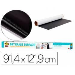 Pizarra Blanca Rollo Adhesivo Post It Super Sticky Removible de 91,4x121,9 cm