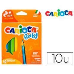 Lapices de Colores Carioca Baby Ergonomicos de Colores Surtidos Caja de 10 unidades