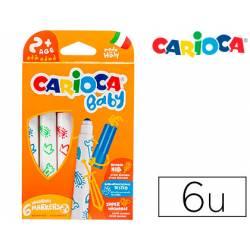 Rotulador Carioca Baby Punta Gruesa Lavables de Colores Surtidos Caja de 6 unidades