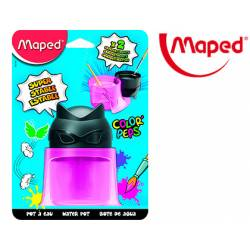 Bote limpia pinceles Maped Color Peps Superhéroes de Plástico