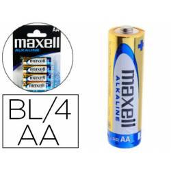 Pilas Maxell Alcalina 1.5 V AA LR06 Blister de 4 unidades