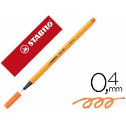 Rotulador Stabilo Point 88 Color Naranja