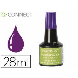 Tinta Tampon Q-Connect Color Violeta 28ml