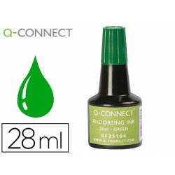 Tinta Tampon Q-Connect Color Verde 28ml