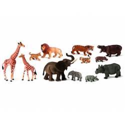 Juego Infantil a partir de 3 años Animales de la Selva y sus crias Miniland